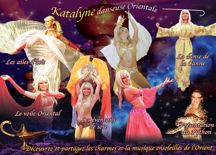 Publicite katalyne danseuse orientale